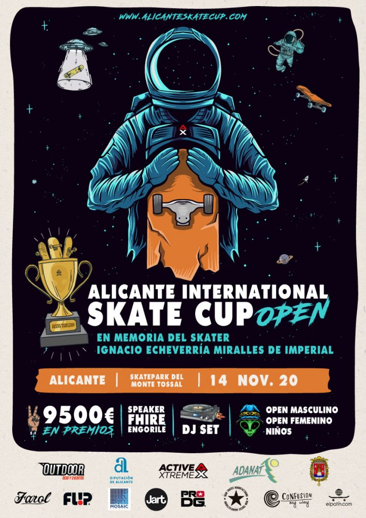 Cartel anunciador del evento ALICANTE INTERNATIONAL SKATE CUP OPEN