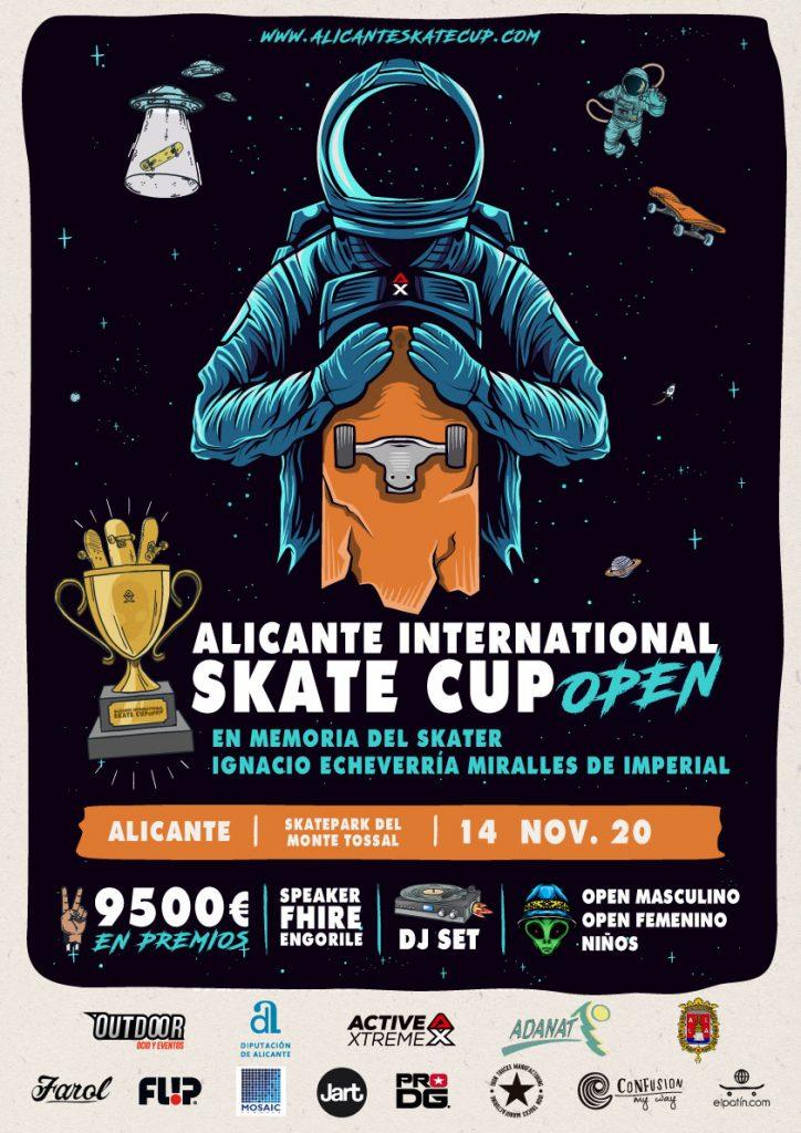 Cartel anunciador del evento ALICANTE INTERNATIONAL SKATE CUP OPEN